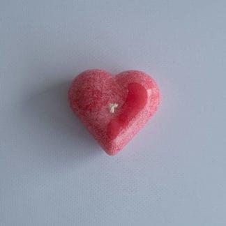 Lumânare în formă de inimioară, diferite culori și parfumuri